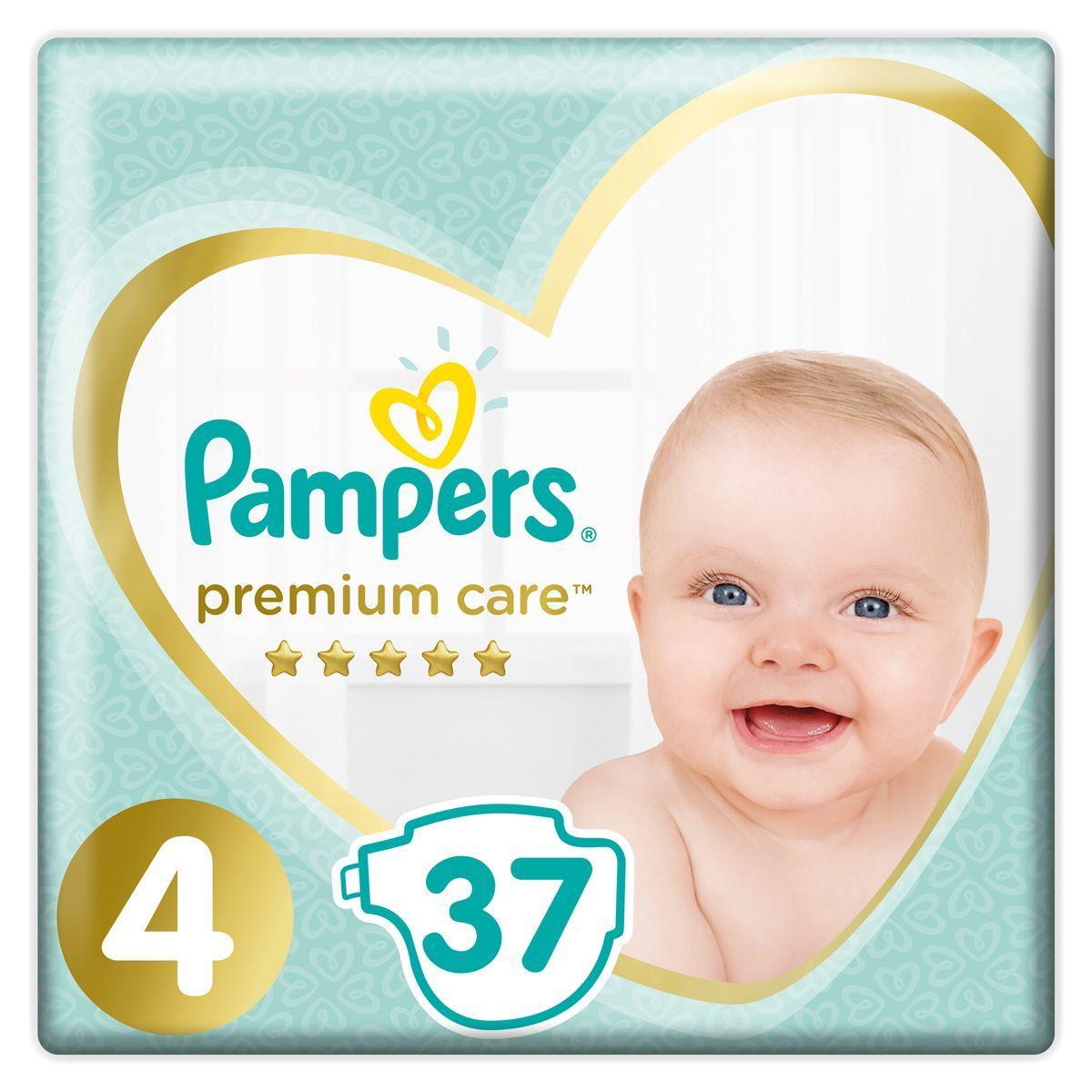 Подгузники Pampers Premium Care 9-14кг. размер 4 37шт.