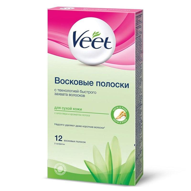 Полоски восковые Veet Easy Gelwax для сухой кожи 12 шт.