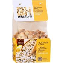 Хлебцы Baker House Итальянские с семенами подсолнечника, оливковым маслом и морской солью, Полиэтиленовый пакет 250 г, (7 шт. в упаковке)