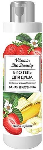 Гель Vitamin Bio Beauty для душа питание и увлажнение банан и клубника