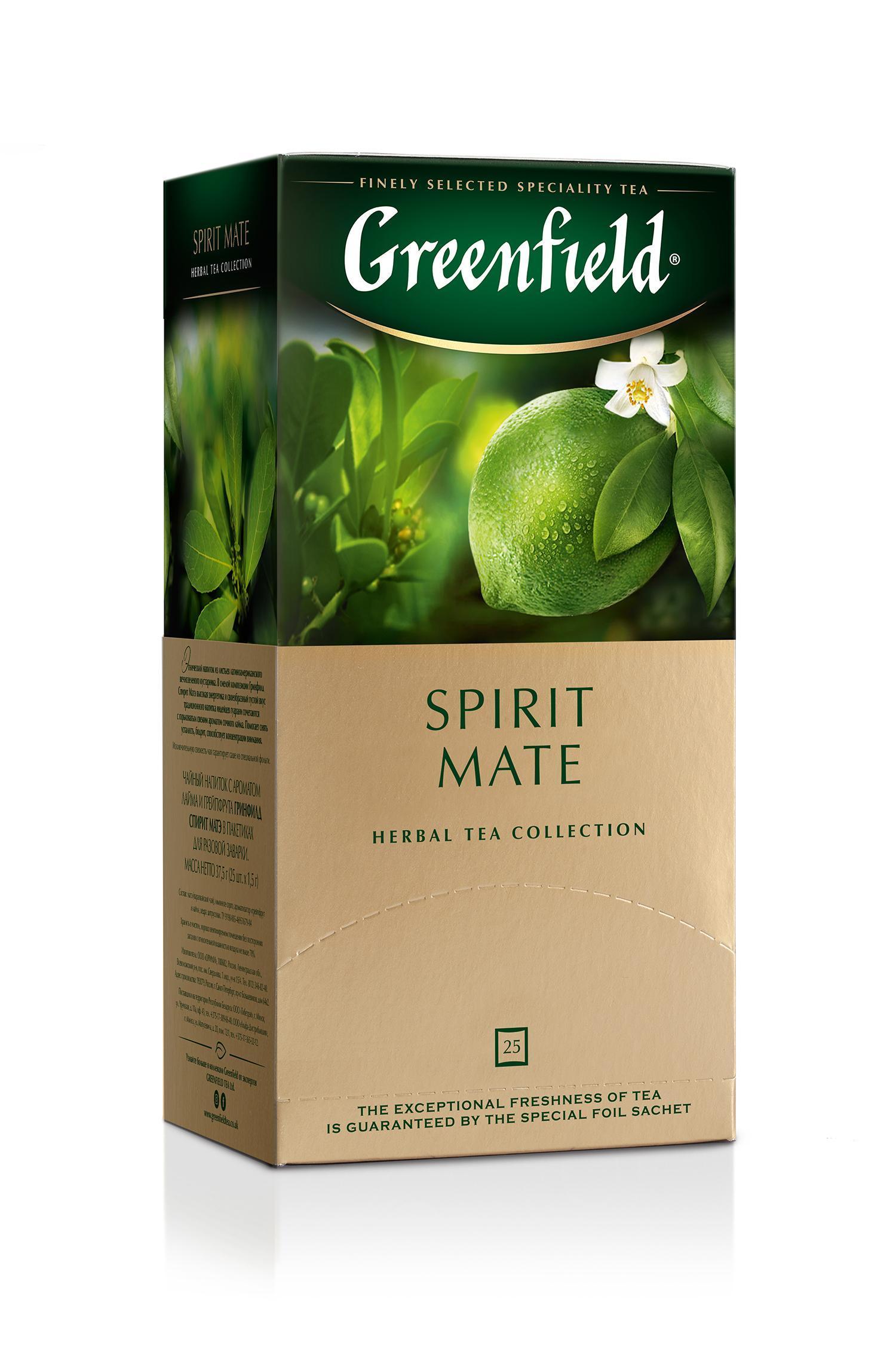 Чай Greenfield Spirit Mate, травяной, пакет., 25 пак/упак