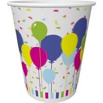 Стакан одноразовый Duni бумажный Balloons and confetti, 10шт