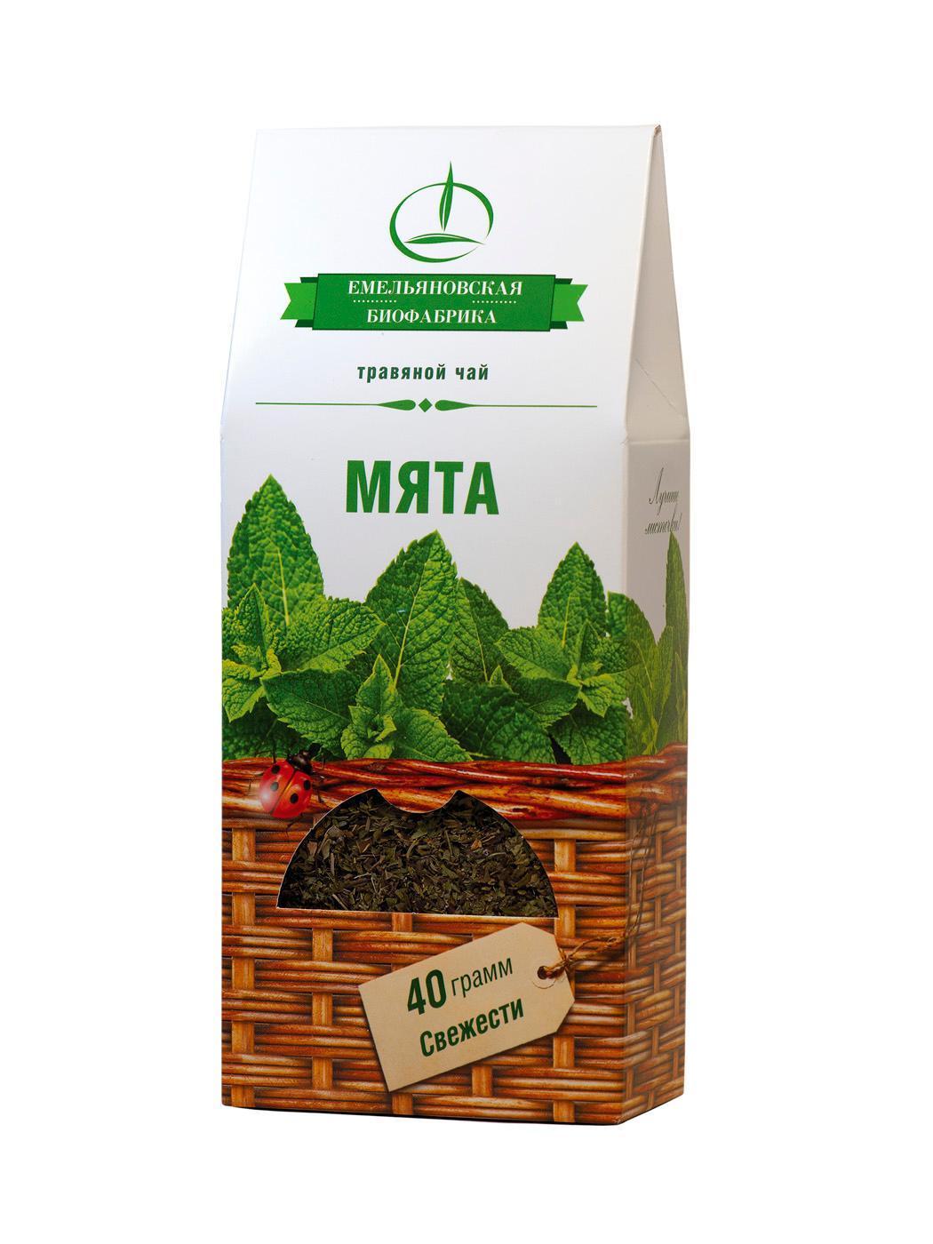 Чай Емельяновская Биофабрика Травяной Мята