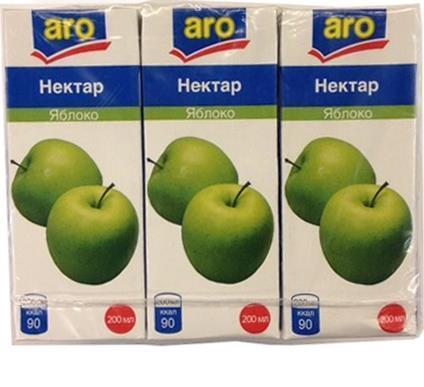 Нектар Aro Яблоко упаковка 6шт.