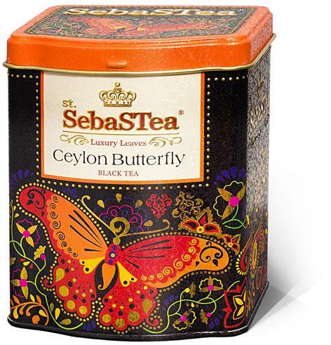 Чай SebaSTea Сeylon Butterfly листовой черный 100 гр