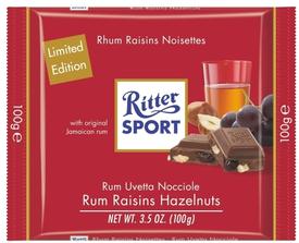 Шоколад Ritter Sport Rum Trauben Nuss молочный Ром, орех, изюм
