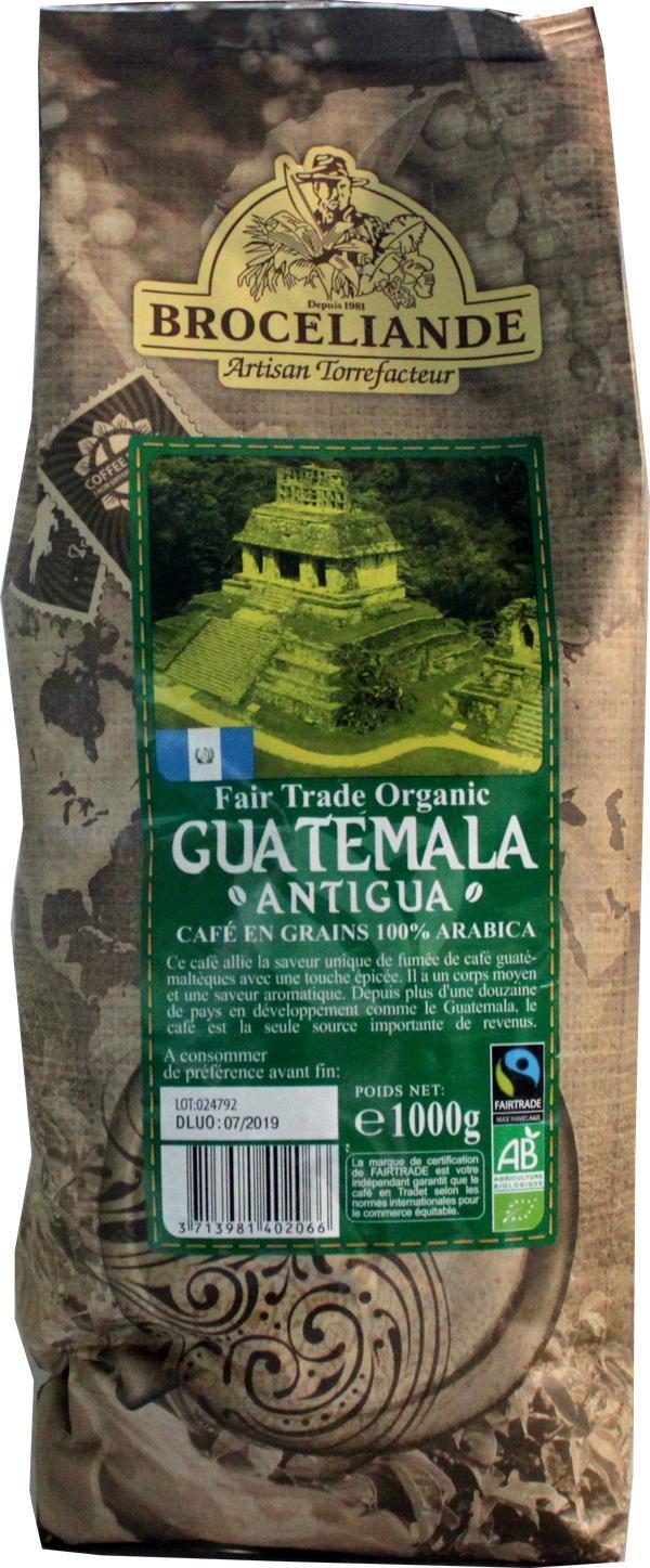 Кофе Broceliande Guatemala в зернах 1 кг.