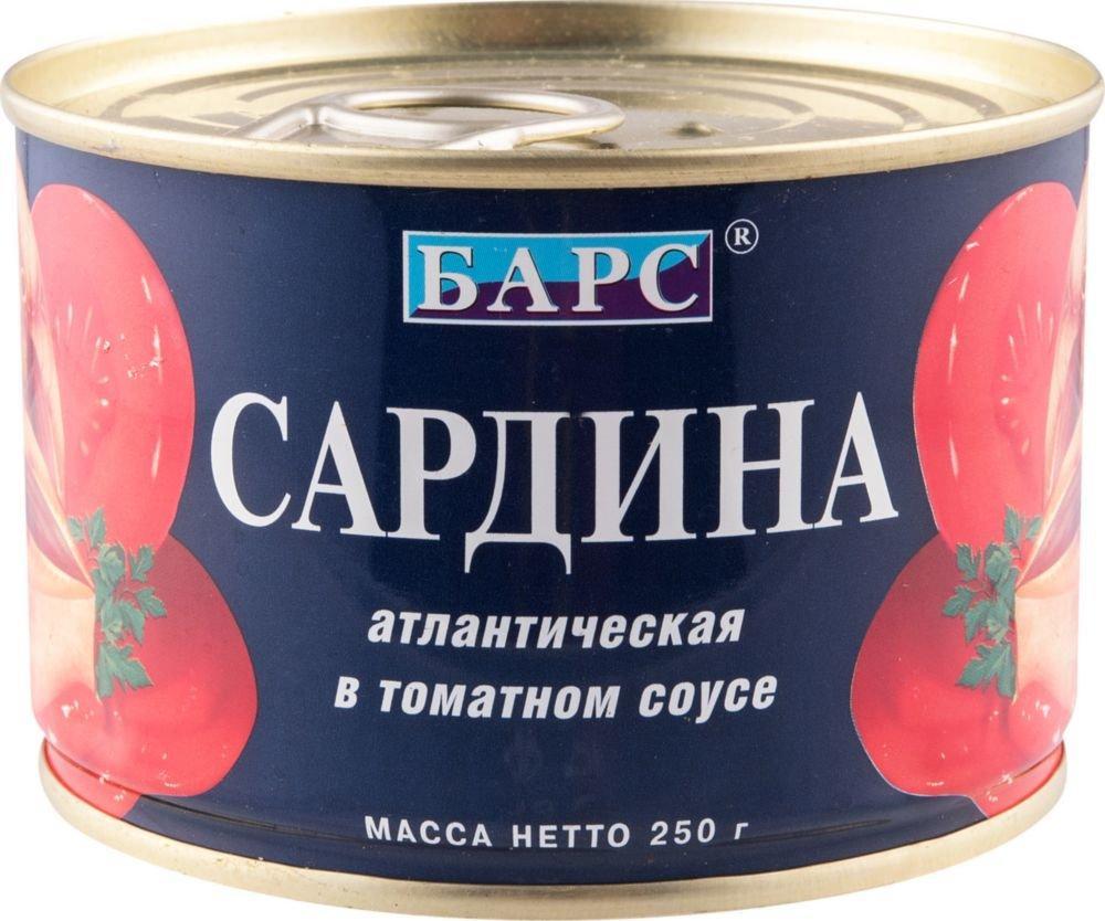 Сардина Барс атлантическая в томатном соусе