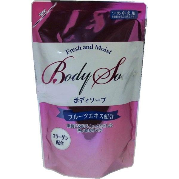 Жидкое мыло Fresh and Moist для тела с коллагеном и экстрактами фруктов. 300 мл