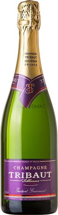 Шампанское Трибо Инстан Гурман / Tribaut Instant Gourmand,  Пино Нуар, Шардоне, Пино Менье,  Белое Полусухое, Франция