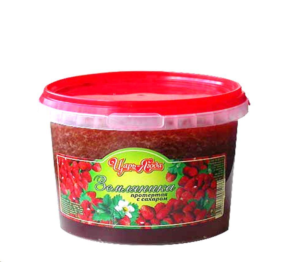 Ягода Царь-ягода Земляника протертая с сахаром