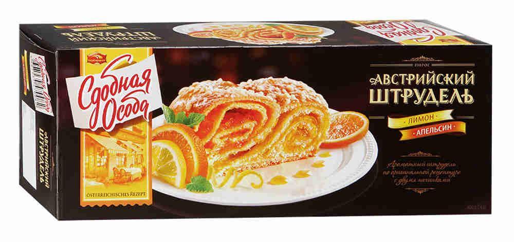 Штрудель Черемушки Сдобная Особа Австрийский Лимон-апельсин