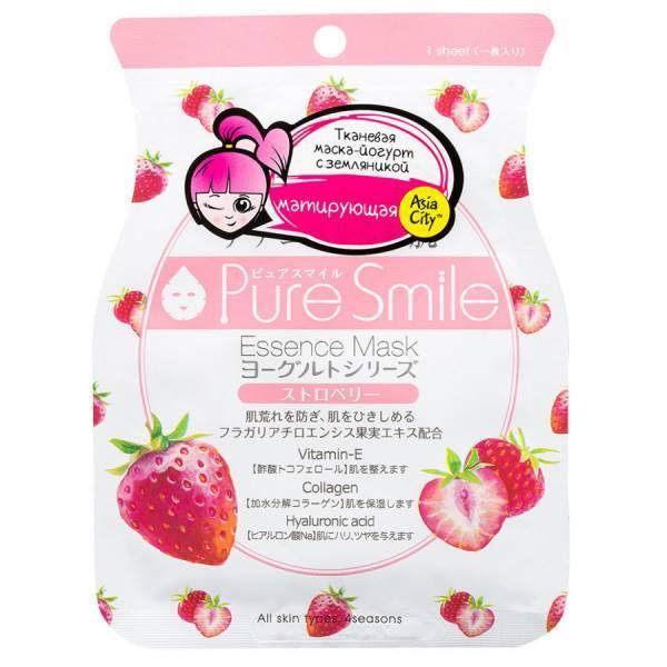Маска Pure Smile Yogurt mask для лица Выравнивающая тон кожи на йогуртовой основе  с экстрактом клубники