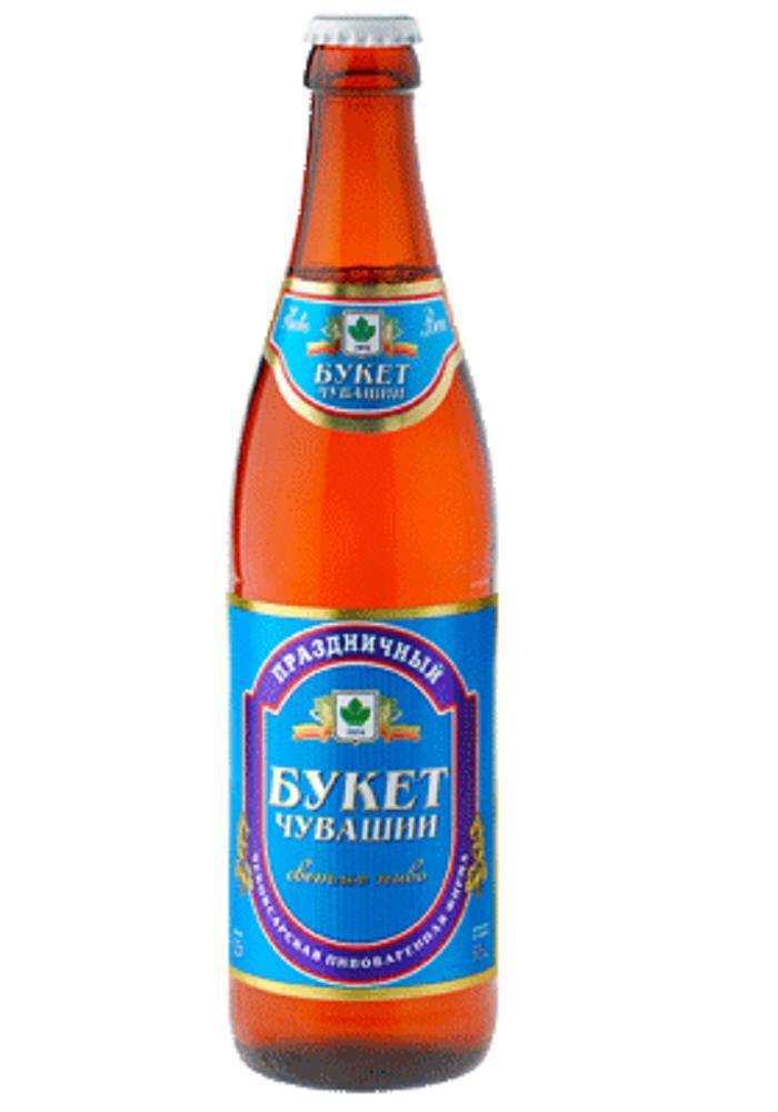 Пиво Букет Чувашии Праздничное светлое 5%