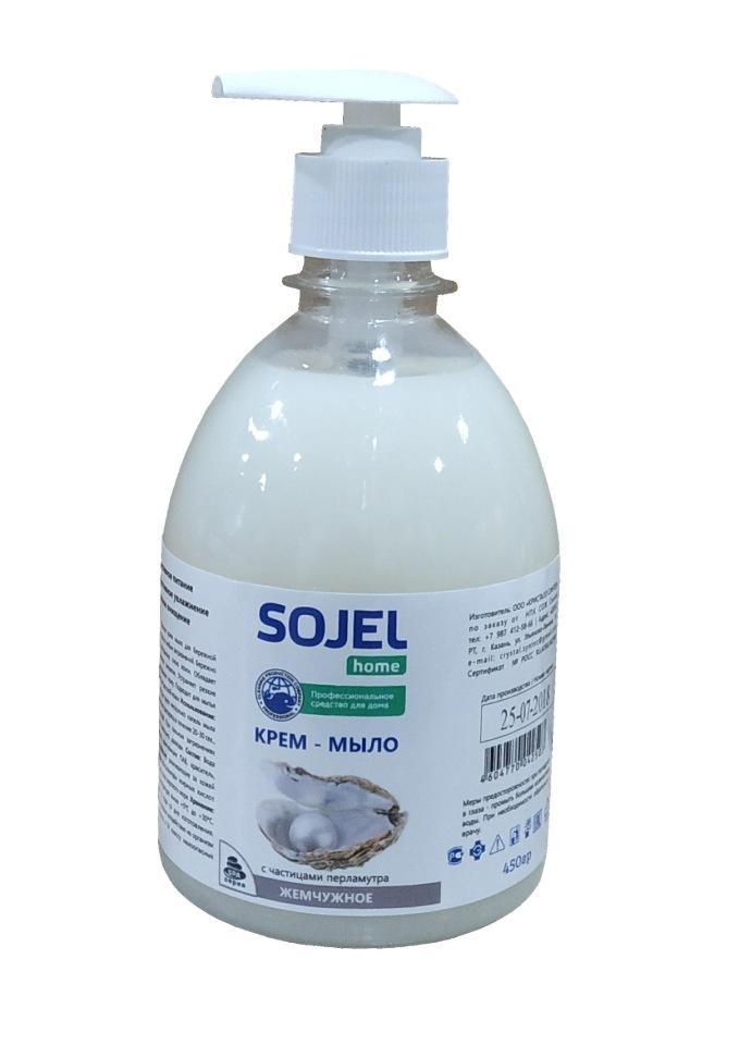 Крем мыло SOJEL с увлажняющим эффектом Жемчужное