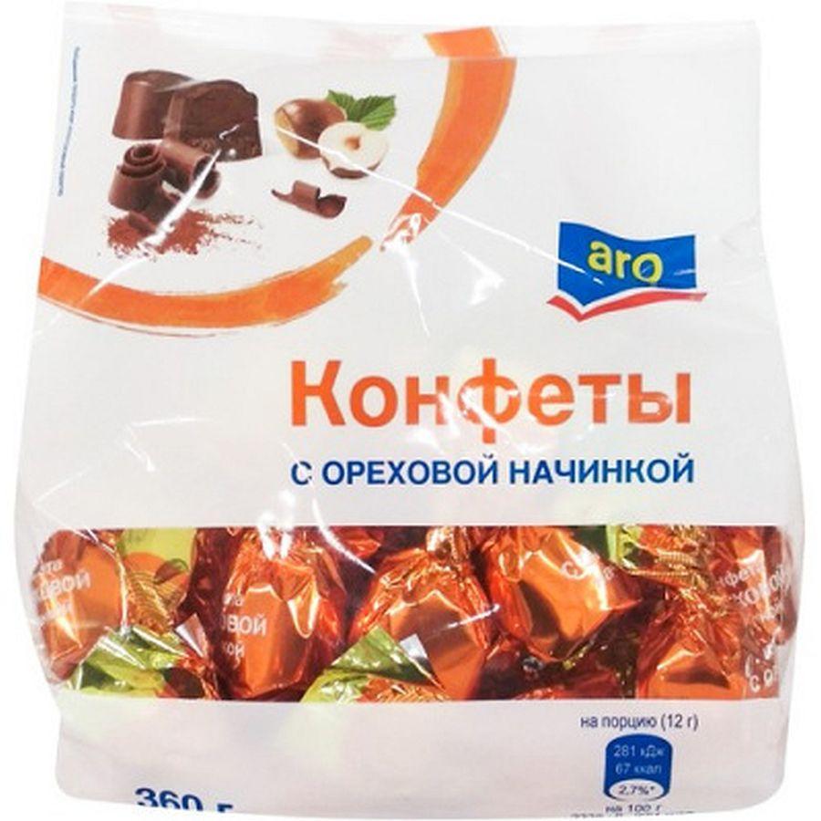 Конфеты Aro Шоколадные с ореховой начинкой