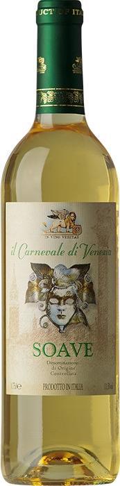 Вино Карневале ди Венеция Соаве / Carnevale di Venezia Soave,  Треббьяно, Гарганега,  Белое Сухое, Италия