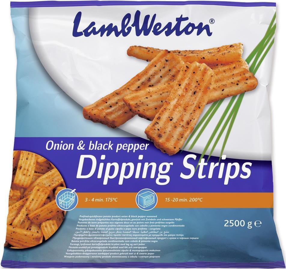 Картофель фри Lamb Weston с покрытием из лука и черного перца