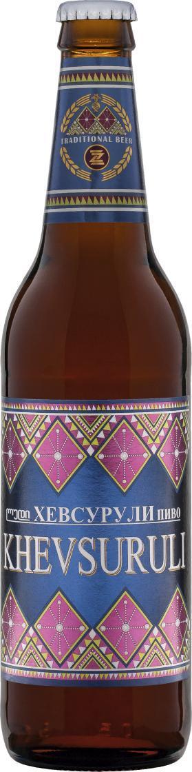 Пиво Khevsuruli светлое пастеризованное 4,9%