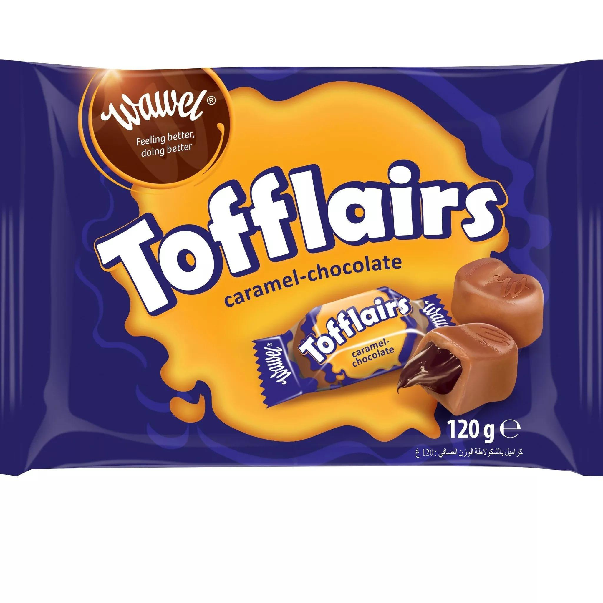 Конфеты Wawel Tofflairs caramel chocolate