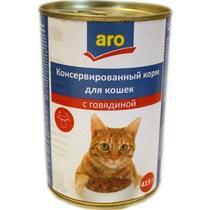 Корм влажный для кошек с курицей Aro 415 гр. Жестяная банка