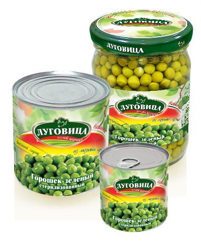 Горошек Луговица зеленый стерилизованный