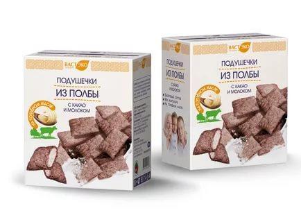 Подушечки ВастЭко из полбы с какао и молоком