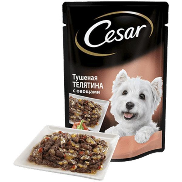 Лакомство для собак Cesar тушеная телятина с овощами