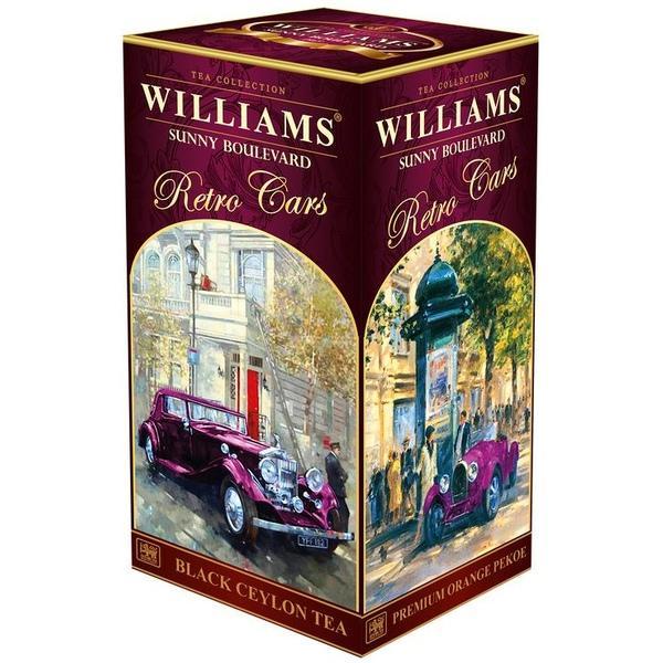Чай чёрный крупнолистовой Williams Retro Cars Солнечный Бульвар 200 гр