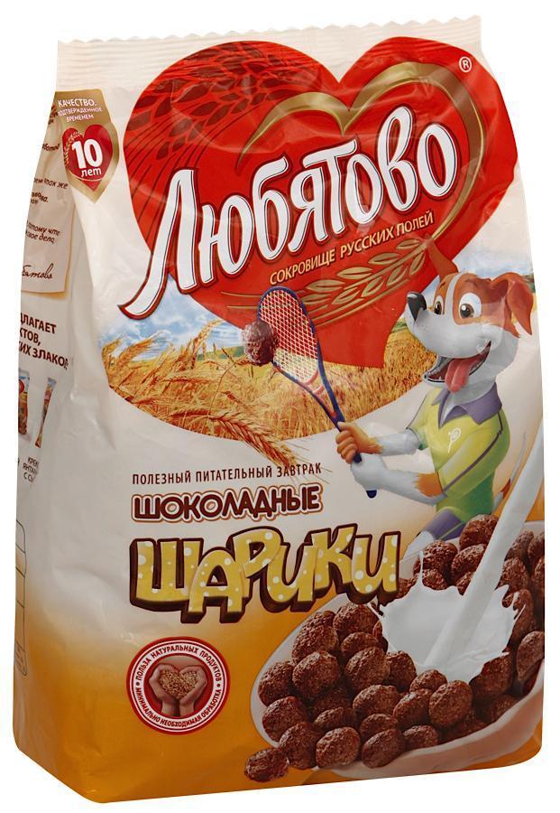 Завтрак сухой Любятово Шарики шоколадные