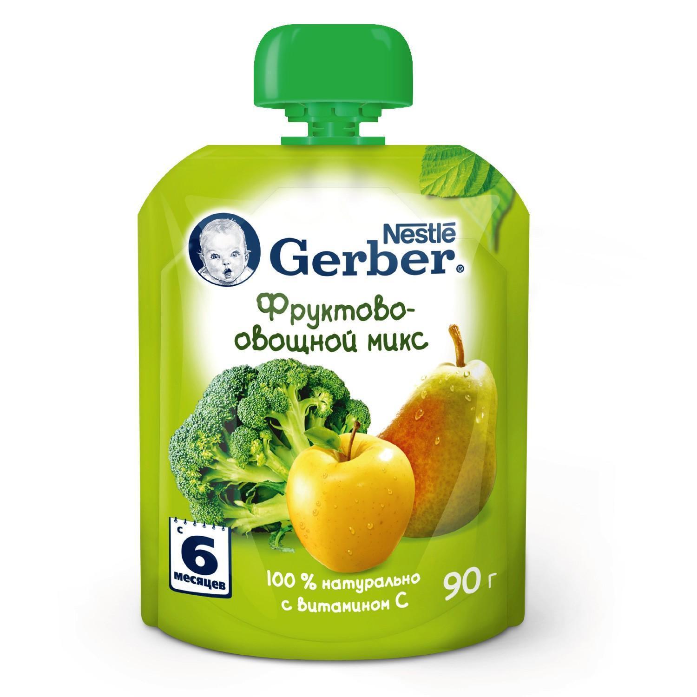 Пюре Gerber Фруктово-овощной микс с 6 месяцев