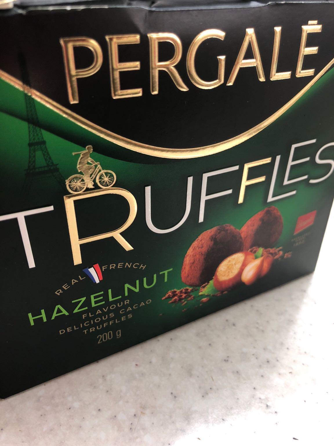 Конфеты Pergale шоколадные трюфели с ореховым вкусом