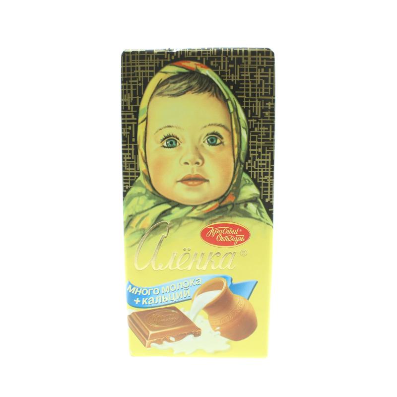 Шоколад Красный Октябрь Алёнка Молочный Много молока