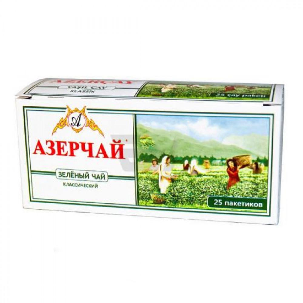 Чай АзерЧай зеленый Классик 25 шт.