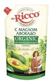 Майонез MR. RICCO Organic с маслом авокадо 67%  400мл