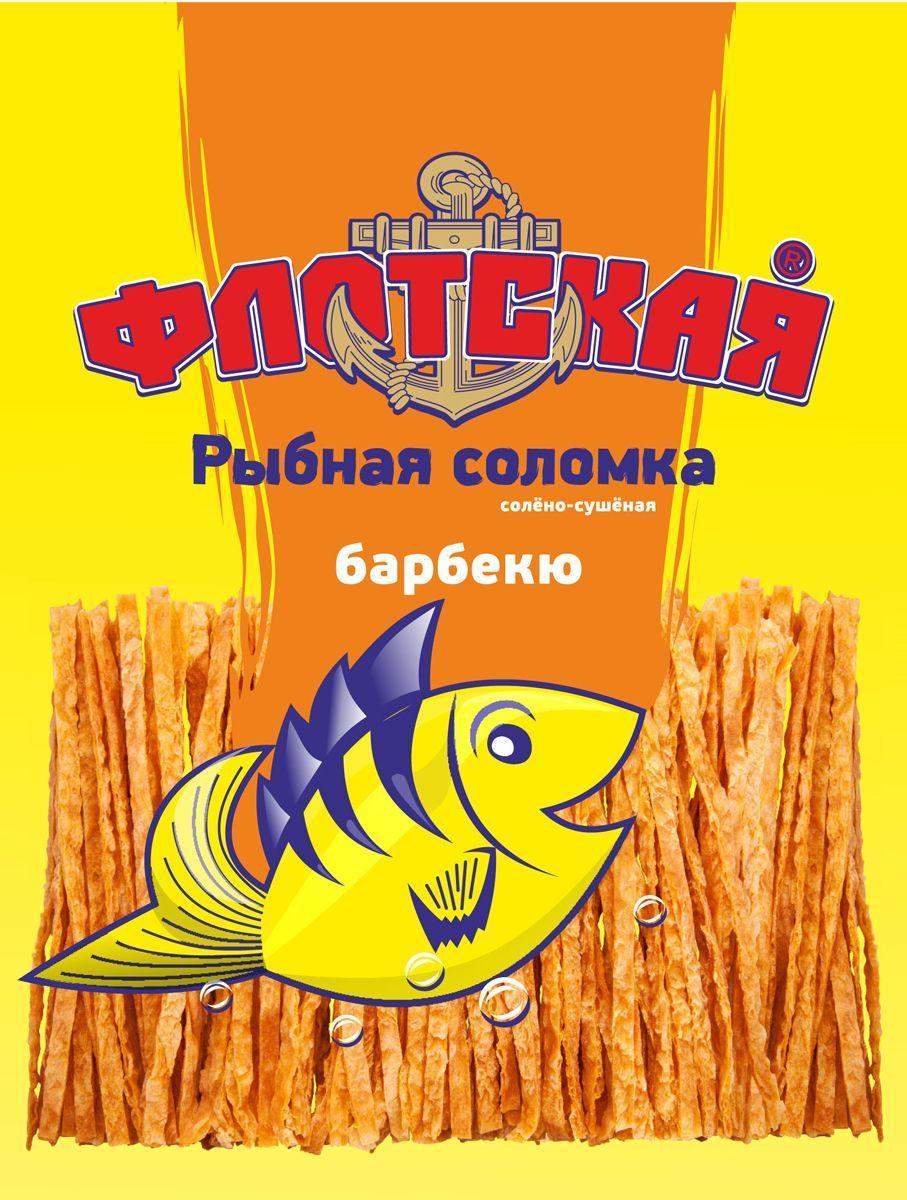 Соломка Флотская рыбная солено-сушеная со со вкусом барбекю