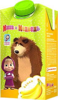 Нектар Маша и медведь Банановый с мякотью