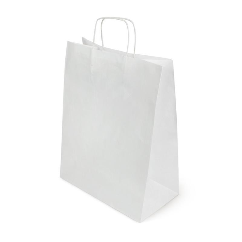 Пакет белый крафт с кр. руч. 320*180*430, 80 г/м2