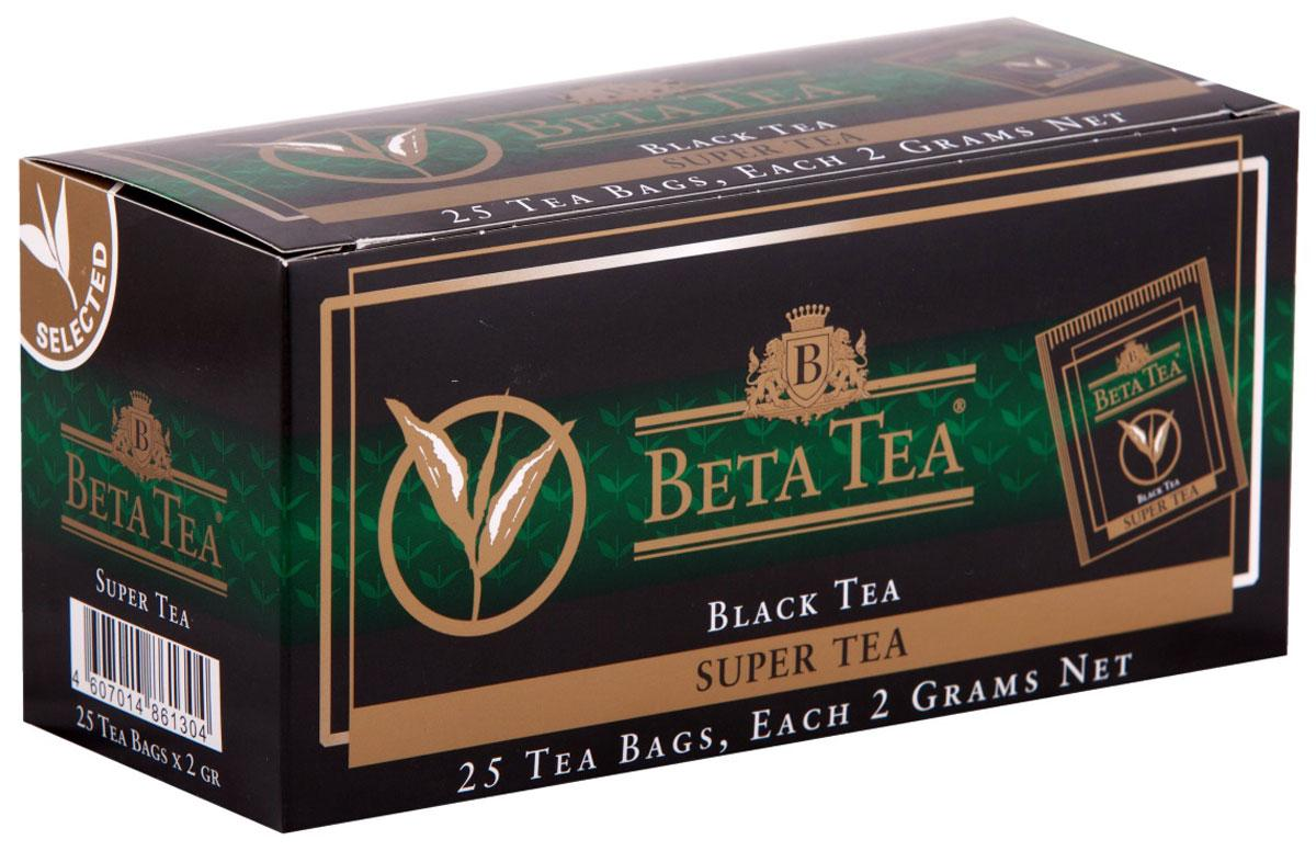 Чай Beta Tea Super Tea черный 25 пак.