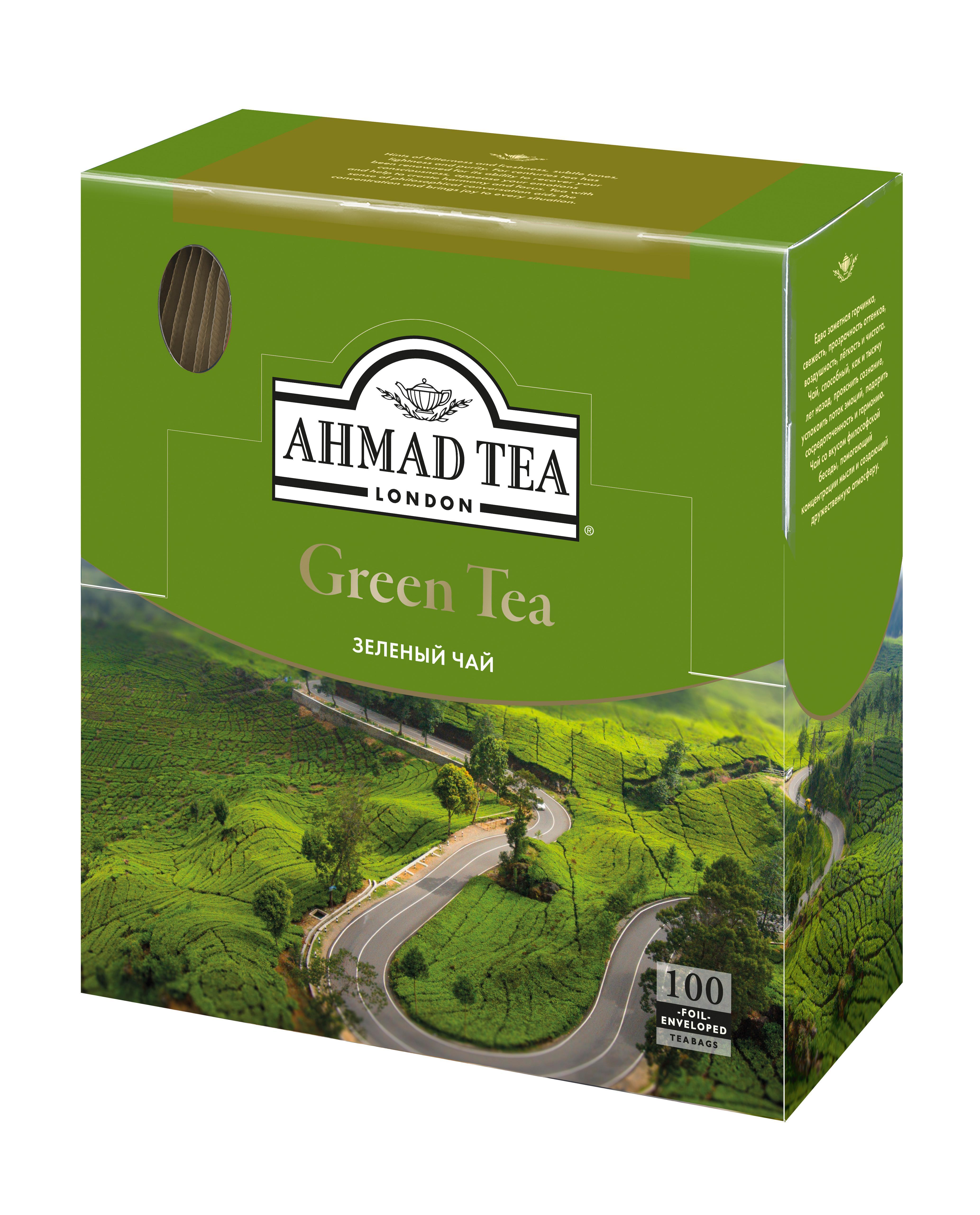 Чай Ahmad Tea зеленый в пакетиках