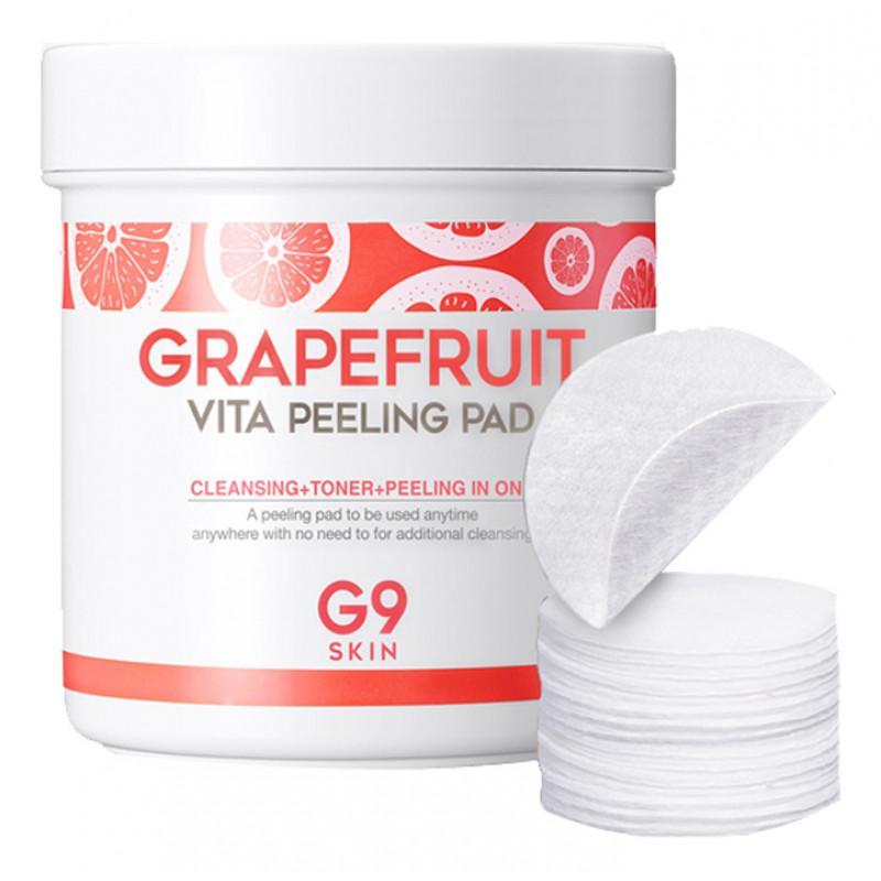 Ватные диски Berrisom - G9 Grapefruit Vita Peeling Pad с эффектом пилинга