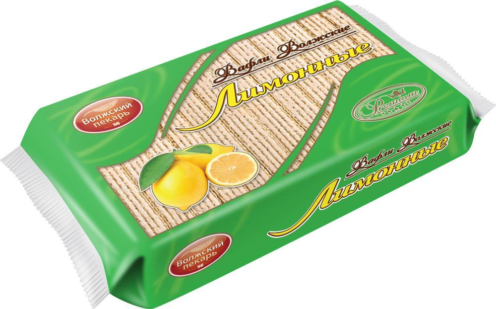Вафли Волжский пекарь Лимонные