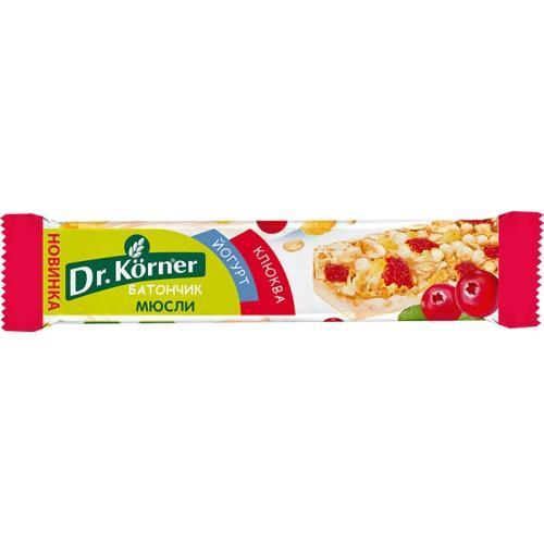 Батончик мюсли Dr. Korner глазированный клюква-йогурт