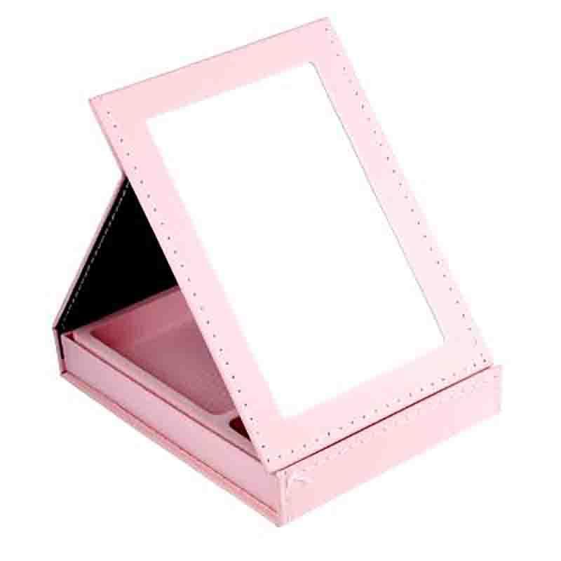 Зеркало-шкатулка стекло, бумага, 15х21,5см.