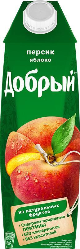Сок Добрый персик-яблоко нектар