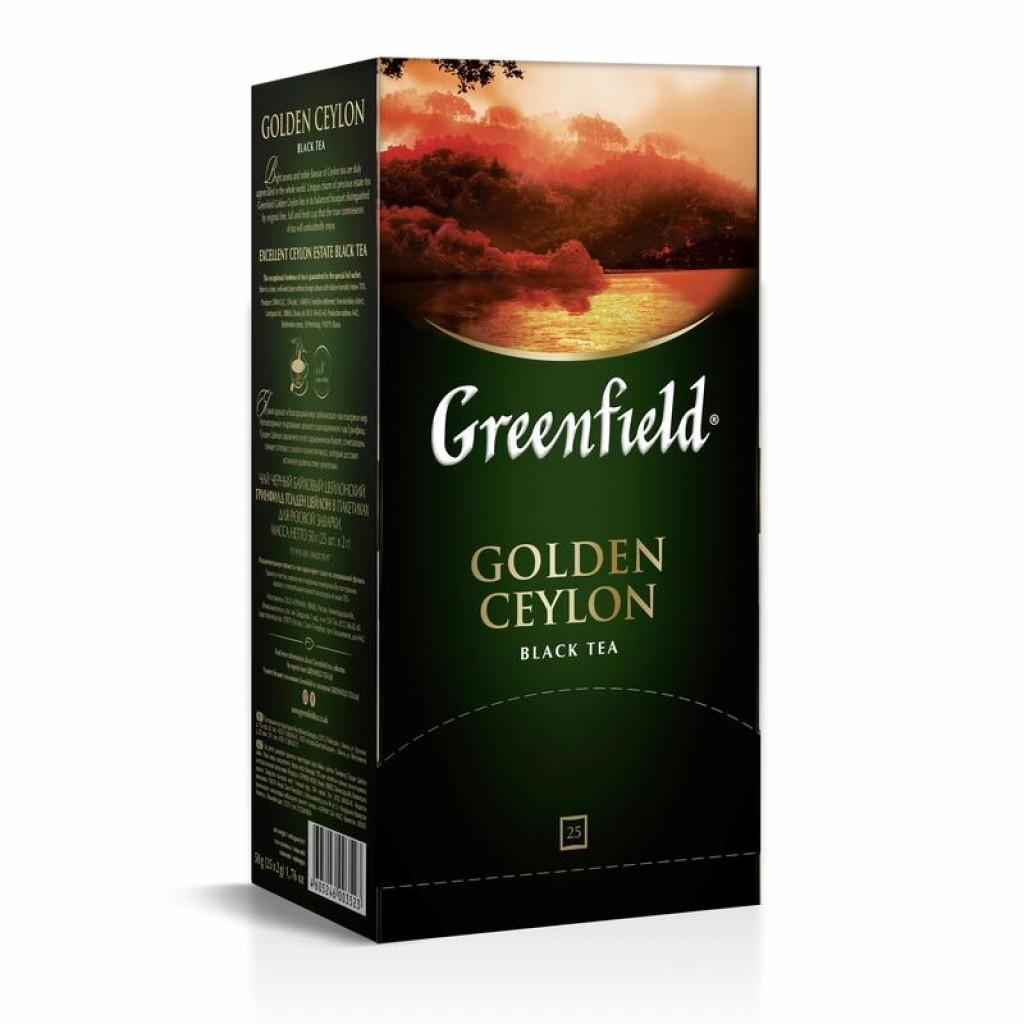 Чай черный Greenfield Golden Ceylon 25 пакетов