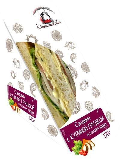 Сэндвич Домашний очаг С куриной грудкой и соусом карри