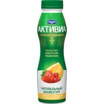 Йогурт питьевой Активиа Дыня Земляника 2%