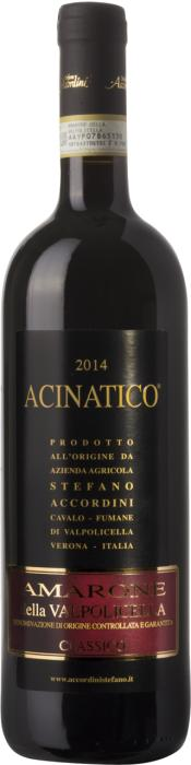 Вино Амароне делла Вальполичелла Классико Ачинатико / Amarone della Valpolicella Classico Acinatico,  Корвина, Рондинелла, Молинара,  Красное Полусухое, Италия