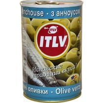 Оливки ITLV зеленые с анчоусом